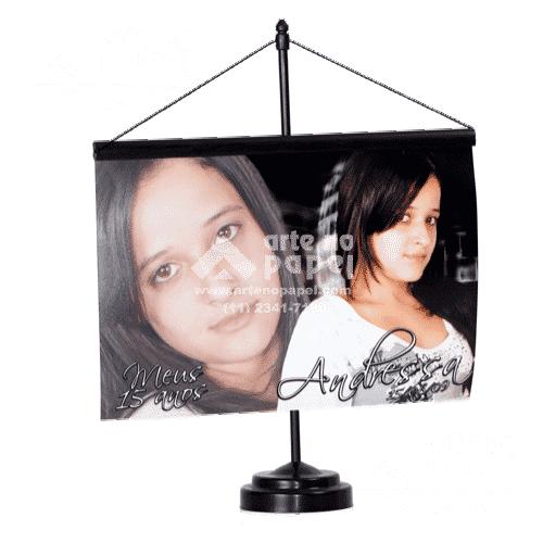 mini banner arte no papel lembrancinhas personalizadas com foto
