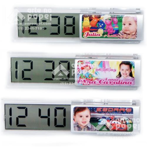 relógio digitalsave the date arte no papel lembrancinhas personalizadas com foto