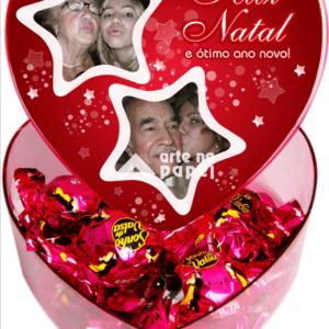 coração natal arte no papel lembrancinhas personalizadas com foto