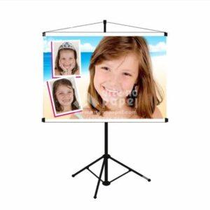 banner horizontal arte no papel lembrancinhas personalizadas com foto
