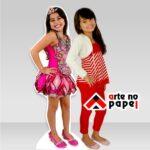 totem menina arte no papel lembrancinhas personalizadas com foto